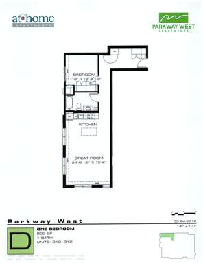 1 Bedroom 1 Bathroom Apartment for rent at Parkway West in Minneapolis, MN