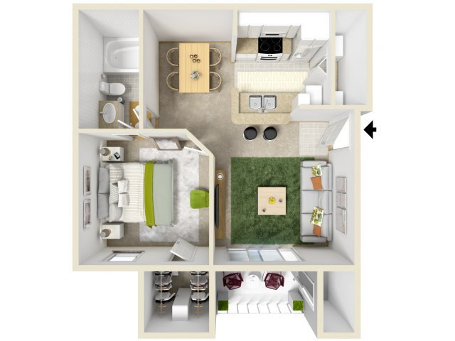 1 Bedroom 1 Bathroom Apartment for rent at Waters Park in Austin, TX
