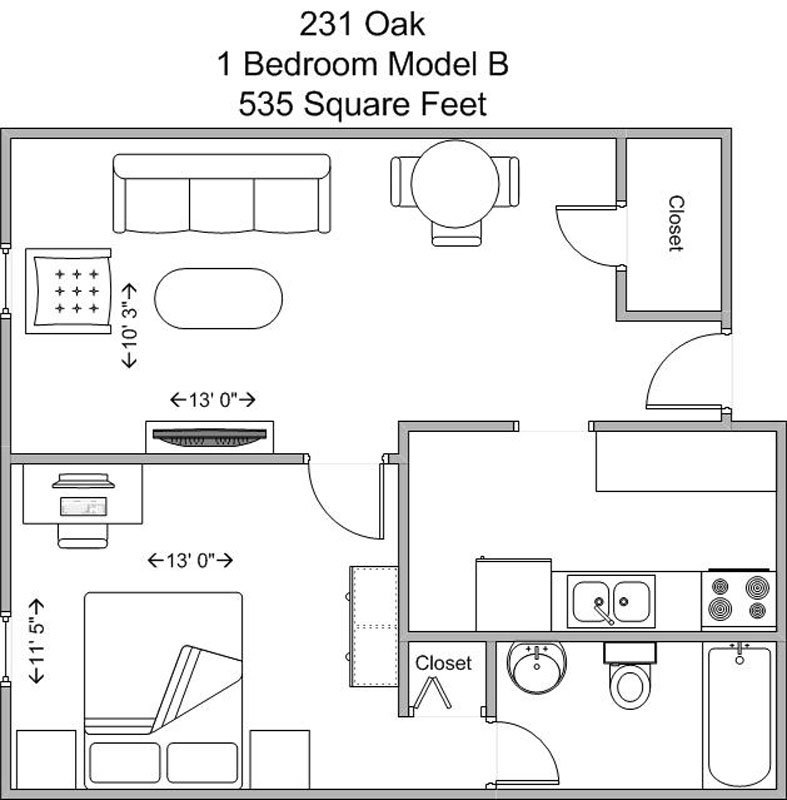1 Bedroom 1 Bathroom Apartment for rent at The Oaks in Cincinnati, OH