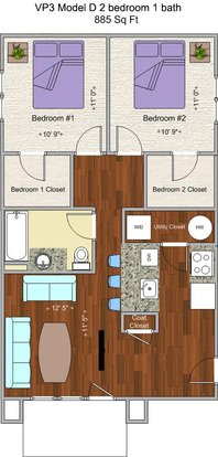 2 Bedrooms 1 Bathroom Apartment for rent at V P 3 in Cincinnati, OH