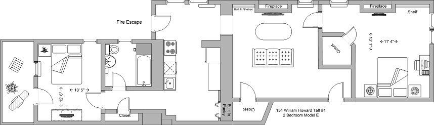 2 Bedrooms 1 Bathroom Apartment for rent at 130-134 William Howard Taft in Cincinnati, OH