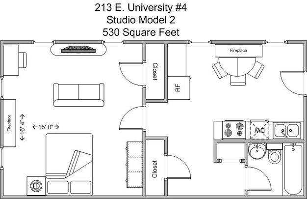 Studio 1 Bathroom Apartment for rent at 213-215 E University in Cincinnati, OH