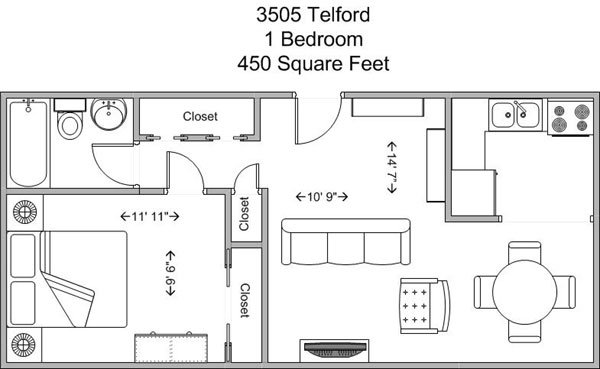 1 Bedroom 1 Bathroom Apartment for rent at 3505 Telford in Cincinnati, OH