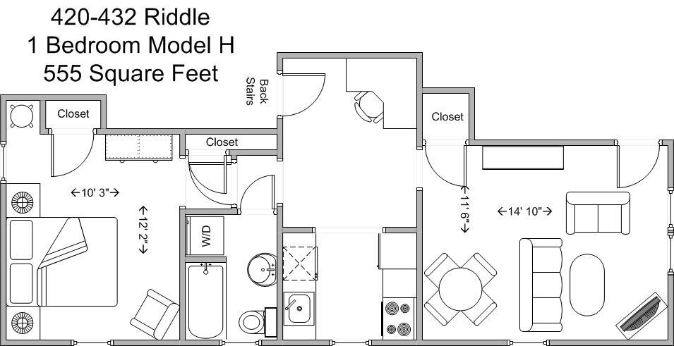 1 Bedroom 1 Bathroom Apartment for rent at 428-432 Riddle in Cincinnati, OH