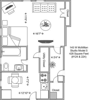 Studio 1 Bathroom Apartment for rent at The Majestic in Cincinnati, OH
