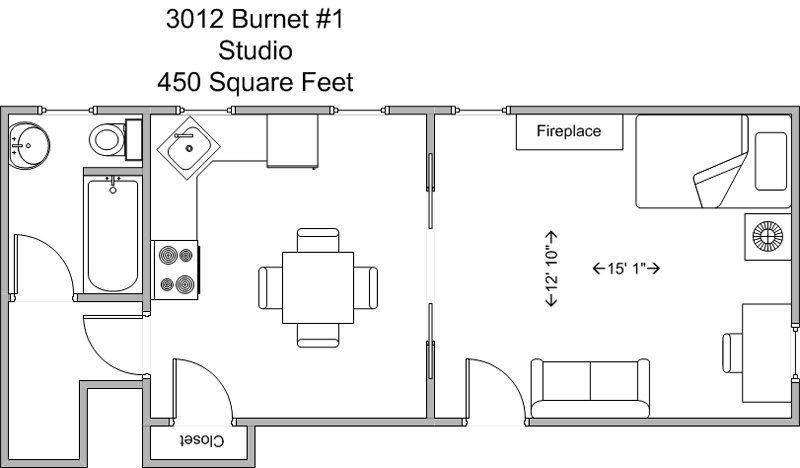Studio 1 Bathroom Apartment for rent at 3012 Burnet in Cincinnati, OH