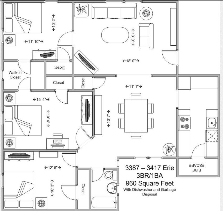 3 Bedrooms 1 Bathroom Apartment for rent at Ravenswood in Cincinnati, OH