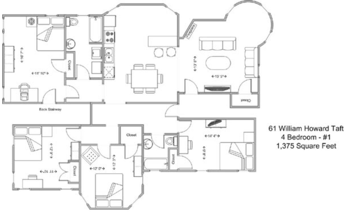 4 Bedrooms 2 Bathrooms Apartment for rent at 61 Wht in Cincinnati, OH