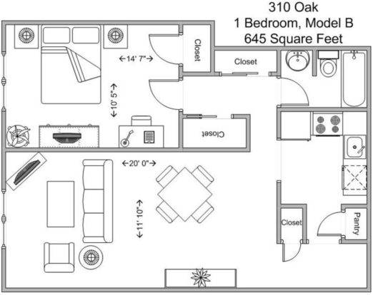 1 Bedroom 1 Bathroom Apartment for rent at 310 Oak in Cincinnati, OH