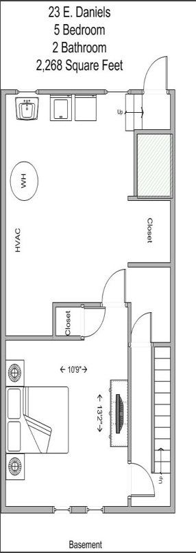5 Bedrooms 2 Bathrooms Apartment for rent at 17-23 E Daniels in Cincinnati, OH