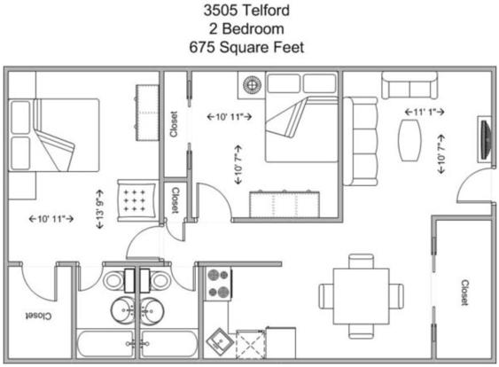 2 Bedrooms 2 Bathrooms Apartment for rent at 3505 Telford in Cincinnati, OH