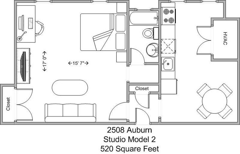 Studio 1 Bathroom Apartment for rent at The Auburndale in Cincinnati, OH