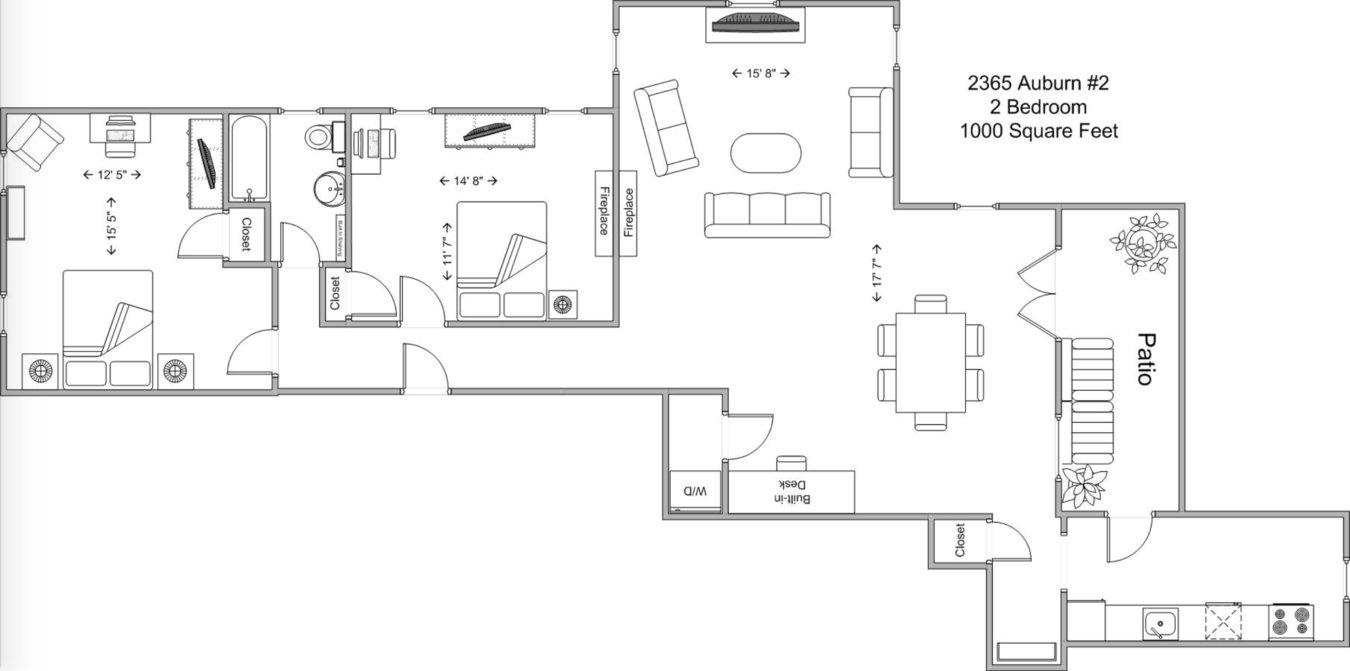 2 Bedrooms 1 Bathroom Apartment for rent at 2365 Auburn in Cincinnati, OH