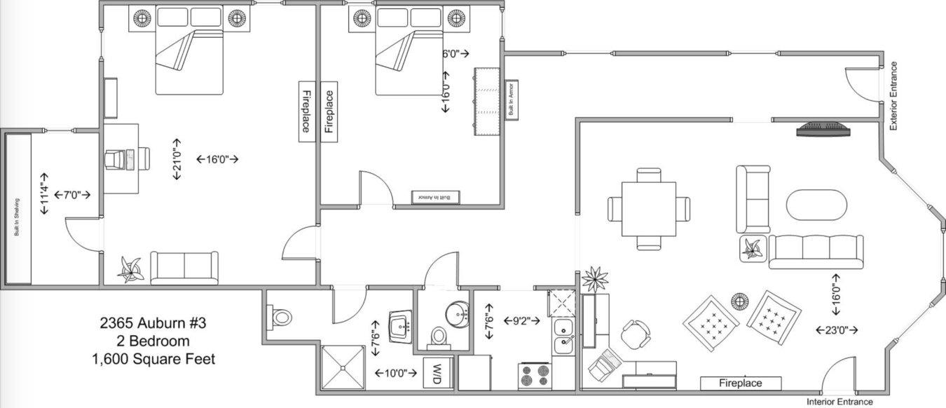 2 Bedrooms 2 Bathrooms Apartment for rent at 2365 Auburn in Cincinnati, OH