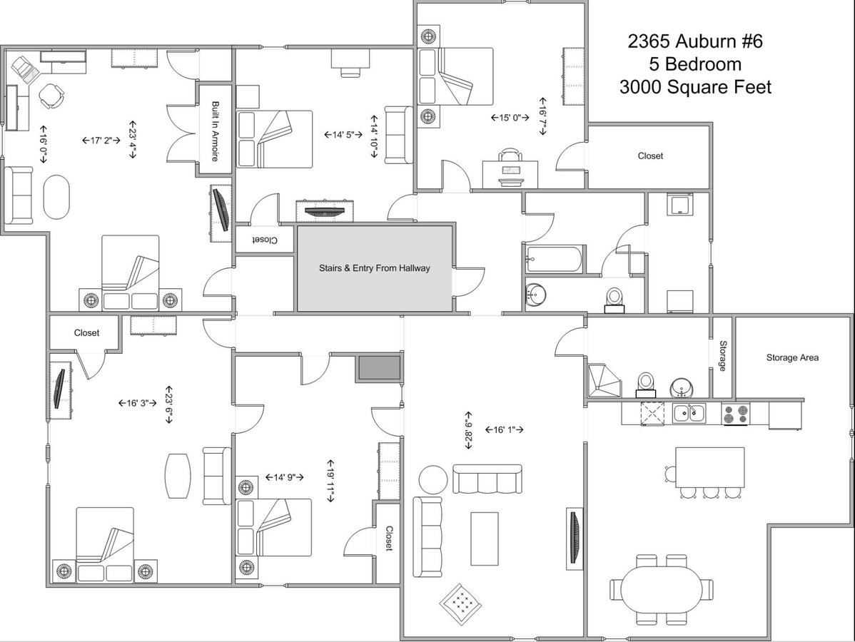 5 Bedrooms 2 Bathrooms Apartment for rent at 2365 Auburn in Cincinnati, OH