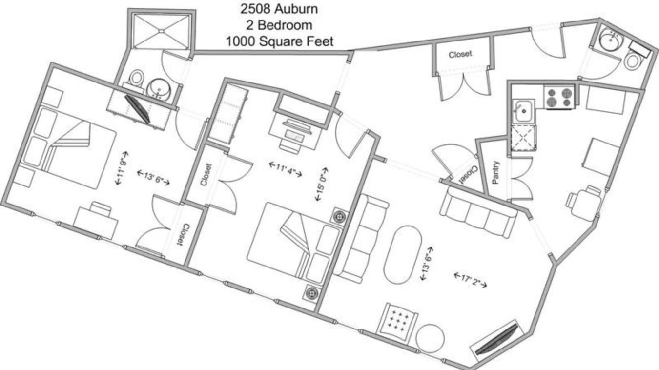 2 Bedrooms 2 Bathrooms Apartment for rent at The Auburndale in Cincinnati, OH