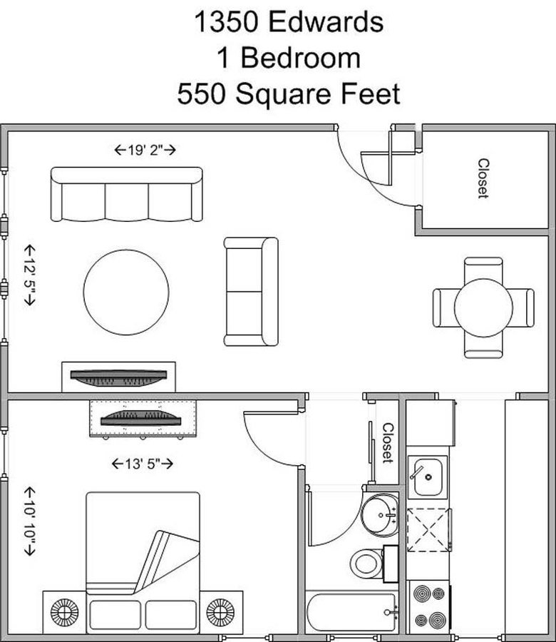 1 Bedroom 1 Bathroom Apartment for rent at 1350 Edwards in Cincinnati, OH