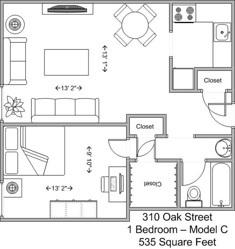 1 Bedroom 1 Bathroom Apartment for rent at 310 Oak in Cincinnati, OH