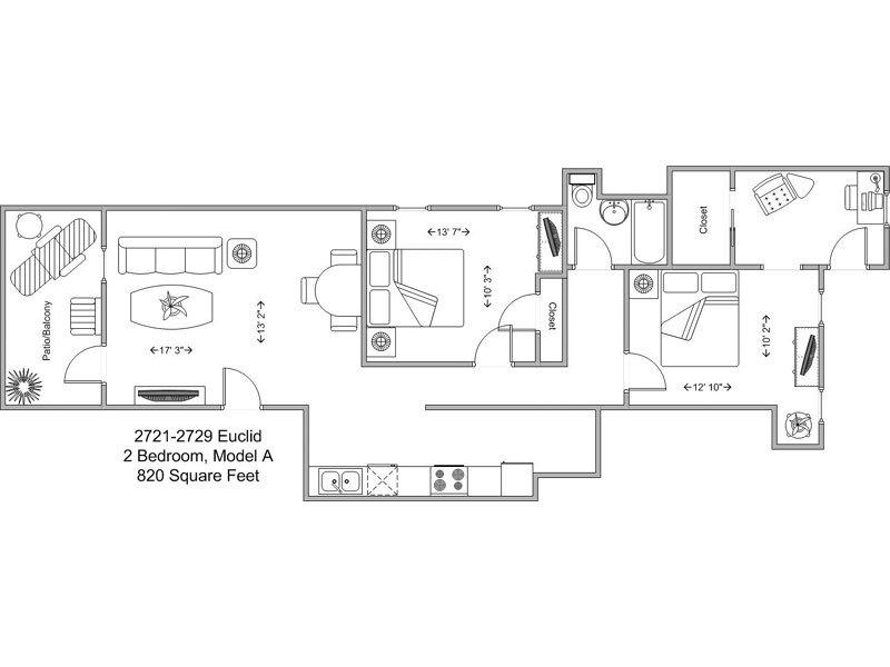 2 Bedrooms 1 Bathroom Apartment for rent at Euclid Court in Cincinnati, OH