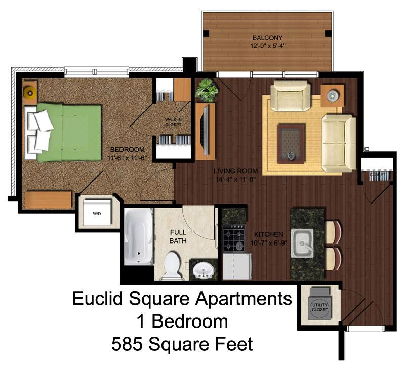 1 Bedroom 1 Bathroom Apartment for rent at Euclid Square in Cincinnati, OH