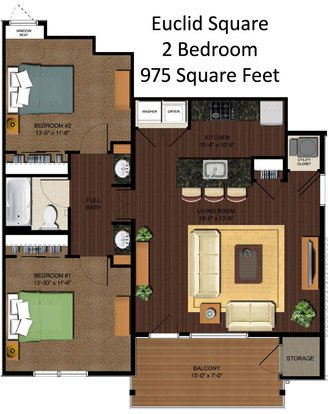 2 Bedrooms 1 Bathroom Apartment for rent at Euclid Square in Cincinnati, OH