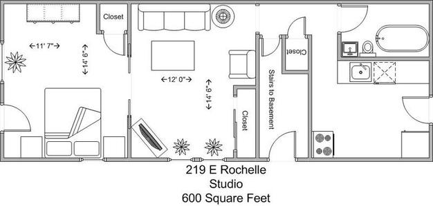 Studio 1 Bathroom Apartment for rent at 219 E Rochelle in Cincinnati, OH