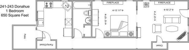 1 Bedroom 1 Bathroom Apartment for rent at 241-243 Donahue in Cincinnati, OH