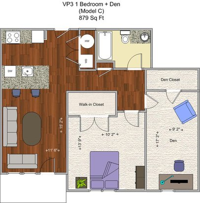 1 Bedroom 1 Bathroom Apartment for rent at V P 3 in Cincinnati, OH