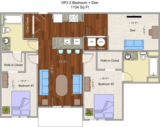 2 Bedrooms 2 Bathrooms Apartment for rent at V P 3 in Cincinnati, OH