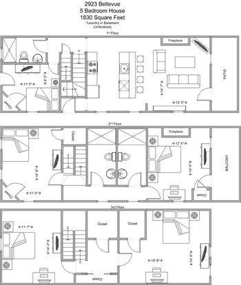 5 Bedrooms 3 Bathrooms House for rent at 2923 Bellevue in Cincinnati, OH