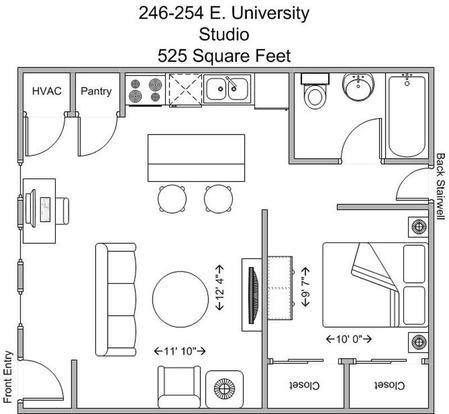 Studio 1 Bathroom Apartment for rent at 246-254 E University in Cincinnati, OH