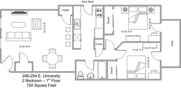 2 Bedrooms 1 Bathroom Apartment for rent at 246-254 E University in Cincinnati, OH