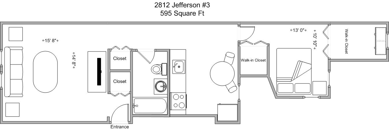 1 Bedroom 1 Bathroom Apartment for rent at 2812 Jefferson in Cincinnati, OH