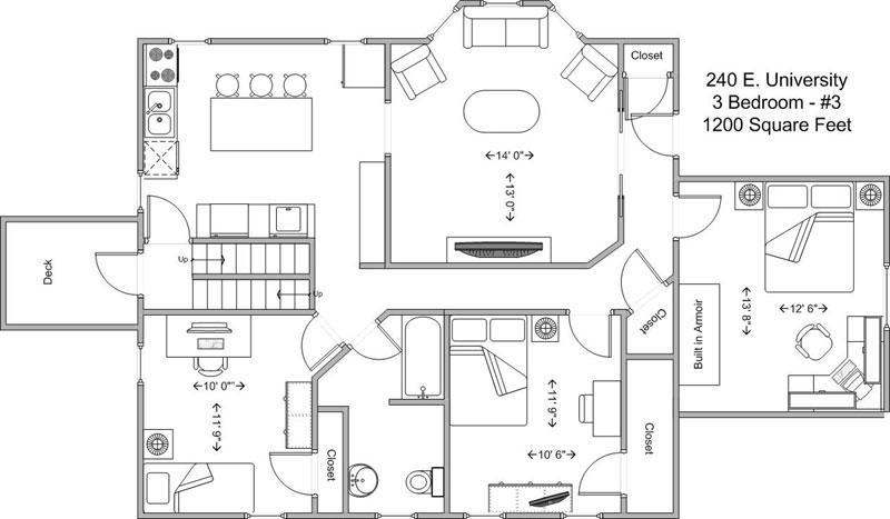 3 Bedrooms 1 Bathroom Apartment for rent at 240 E University in Cincinnati, OH