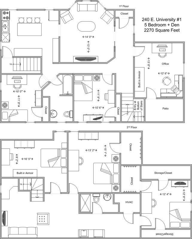 5 Bedrooms 2 Bathrooms Apartment for rent at 240 E University in Cincinnati, OH