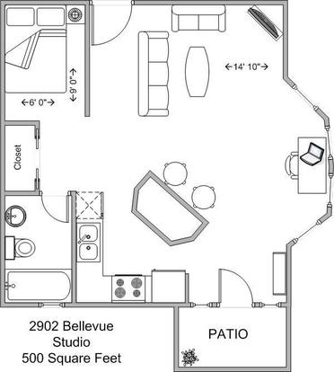 Studio 1 Bathroom Apartment for rent at 2902 Bellevue in Cincinnati, OH