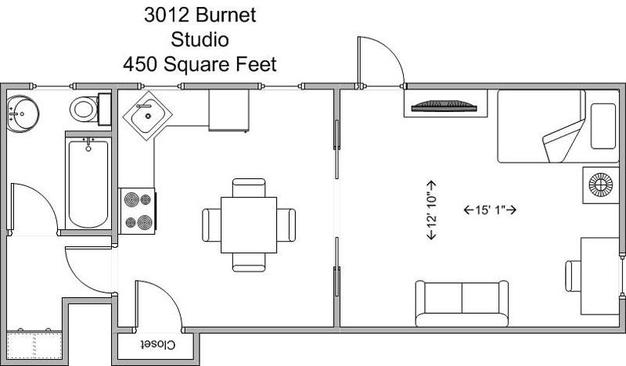 Studio 1 Bathroom Apartment for rent at 3012 Burnet in Cincinnati, OH