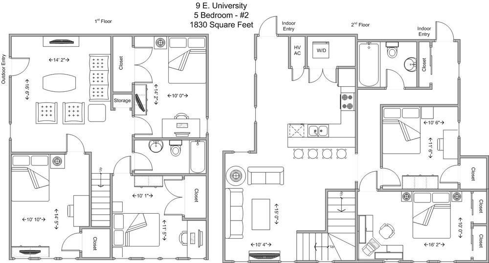 5 Bedrooms 2 Bathrooms Apartment for rent at 9 E University in Cincinnati, OH