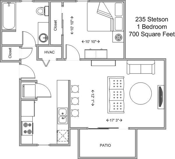 1 Bedroom 1 Bathroom Apartment for rent at Highland Commons in Cincinnati, OH