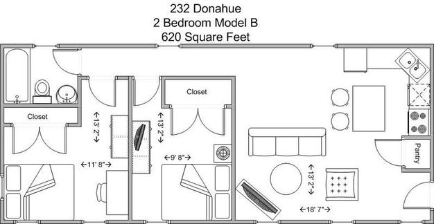 2 Bedrooms 1 Bathroom Apartment for rent at 232 Donahue in Cincinnati, OH