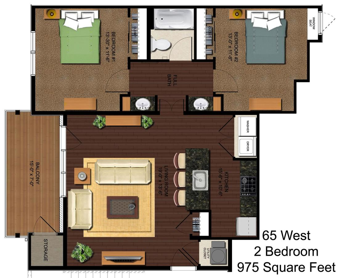 2 Bedrooms 1 Bathroom Apartment for rent at 65 West in Cincinnati, OH