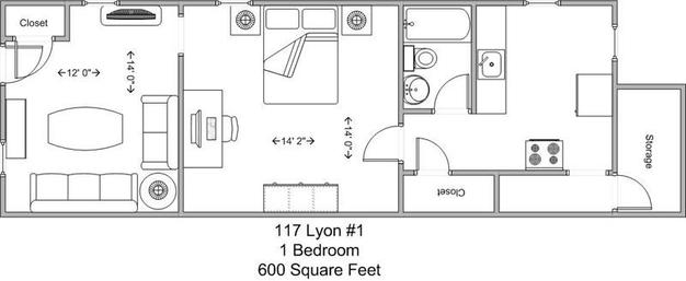 1 Bedroom 1 Bathroom Apartment for rent at 117 Lyon in Cincinnati, OH
