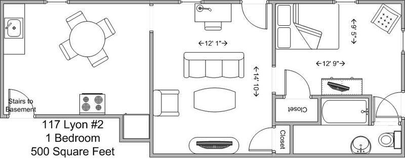 1 Bedroom 1 Bathroom Apartment for rent at 117 Lyon in Cincinnati, OH
