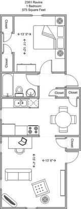 1 Bedroom 1 Bathroom Apartment for rent at 2361 Ravine in Cincinnati, OH