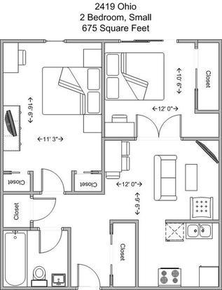 2 Bedrooms 1 Bathroom Apartment for rent at 2419 Ohio in Cincinnati, OH