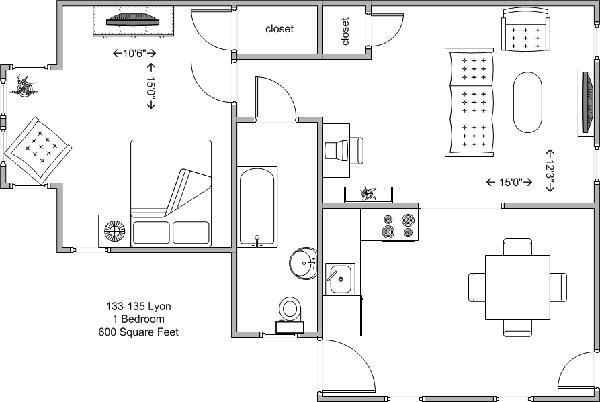 1 Bedroom 1 Bathroom Apartment for rent at 133-135 Lyon in Cincinnati, OH