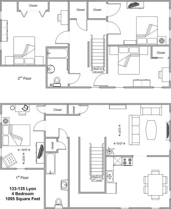 4 Bedrooms 2 Bathrooms Apartment for rent at 133-135 Lyon in Cincinnati, OH