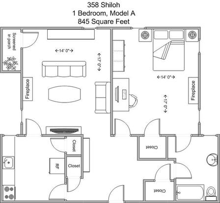 1 Bedroom 1 Bathroom Apartment for rent at 358 Shiloh in Cincinnati, OH