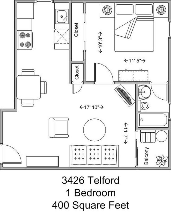 1 Bedroom 1 Bathroom Apartment for rent at 3426 Telford in Cincinnati, OH