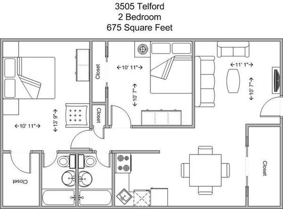 2 Bedrooms 2 Bathrooms Apartment for rent at 3505 Telford in Cincinnati, OH
